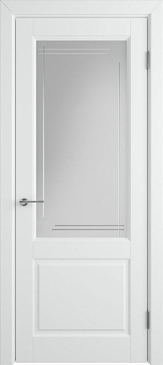 Доррен Поляр Стекло белый сатинат художественное с гравировкой