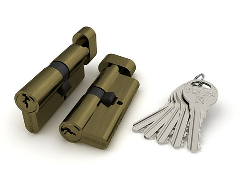 с вертушкой 100 ZM 60 mm (25+10+25) AB бронза 5 кл.