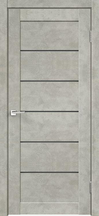 Loft 1 Бетон светло-серый Стекло графит сатинат