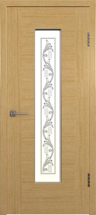Рондо Светлый дуб Стекло белый сатинат с шолкографическим рисунком