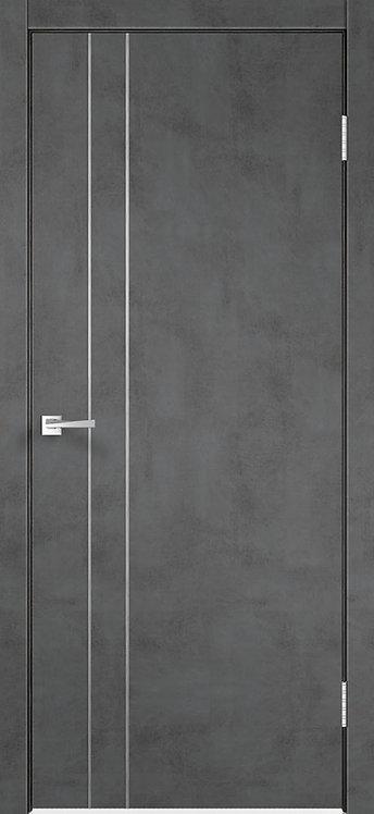 Techno M2 Муар темно-серый Глухая