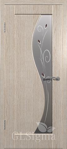 GLSigma 52 (600 мм) Беленый дуб Стекло белый сатинат художественное (на складе)