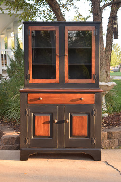 country hutch black and stain