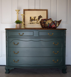 custom green dresser