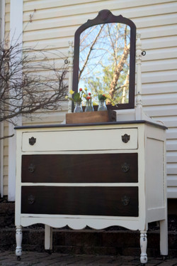 two toned antique dresser