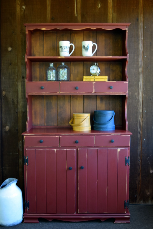 tuscan red country hutch