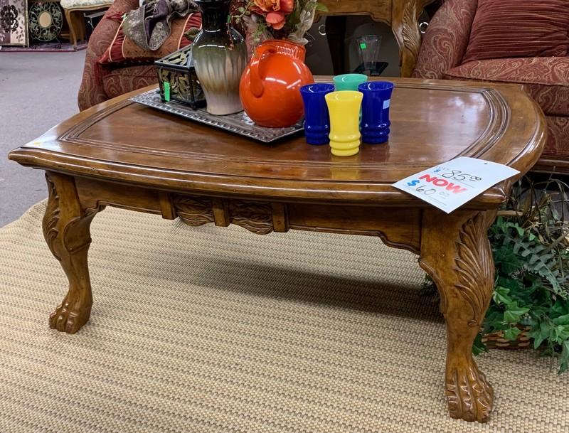 item 538 - coffee table claw feet