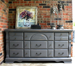 dresser makeover hurricane gray