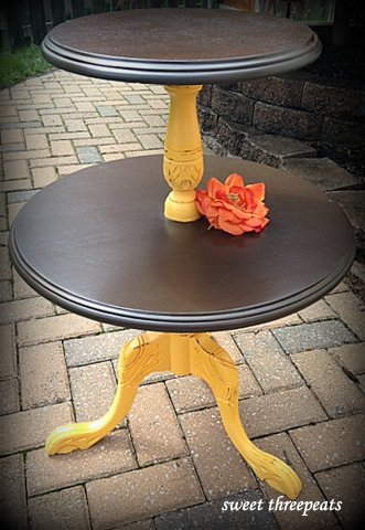 citrus accent table w/walnut stain
