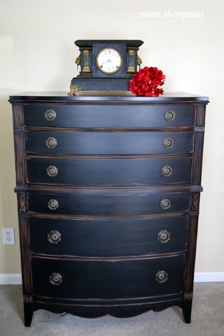 lamp black antique chest