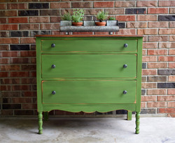 fancy farm girl green dresser