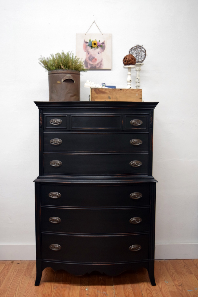 highboy in lamp black