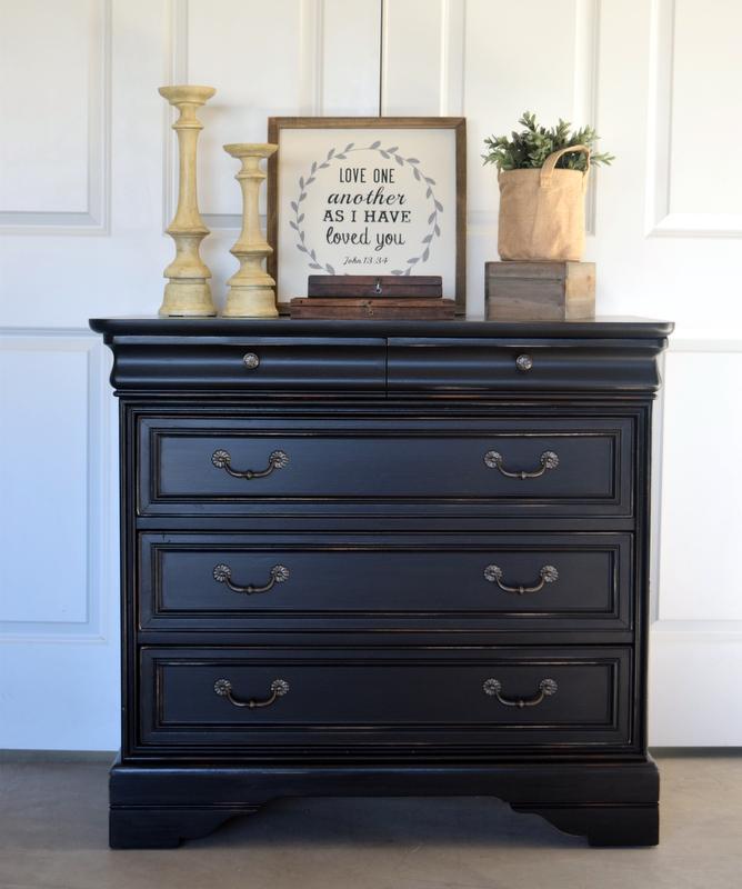 lamp black dresser