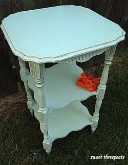 custom aqua distressed table