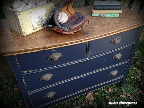 chest of drawers coastal blue