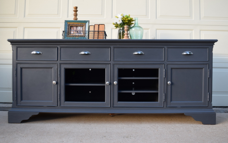 queenstown gray tv console