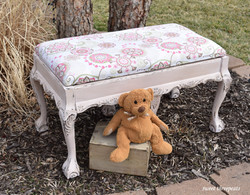 debutante pink claw foot bench
