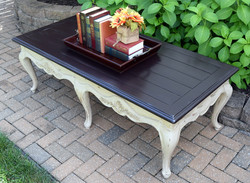coffee table in dixie belle burlap