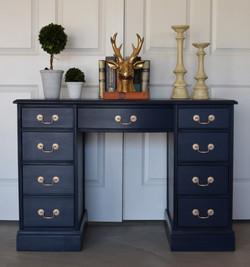 classic desk in peacoat