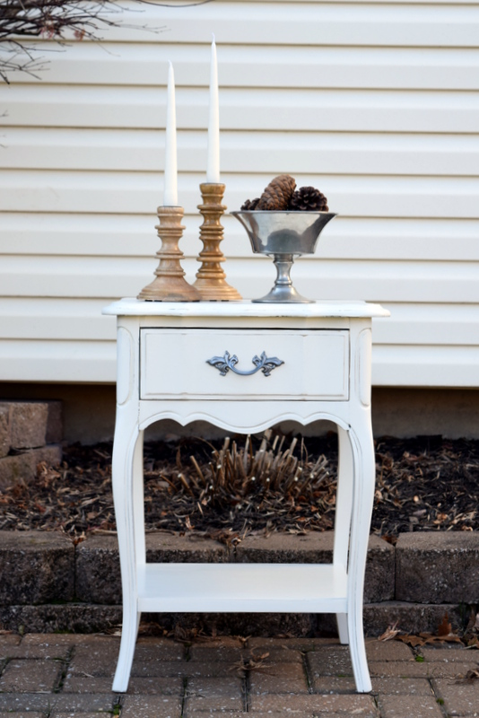 antique white night stand