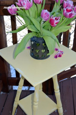 side table in buttermilk