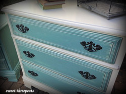 two toned dresser - chalk paint