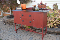 tuscan red buffet with dark wax
