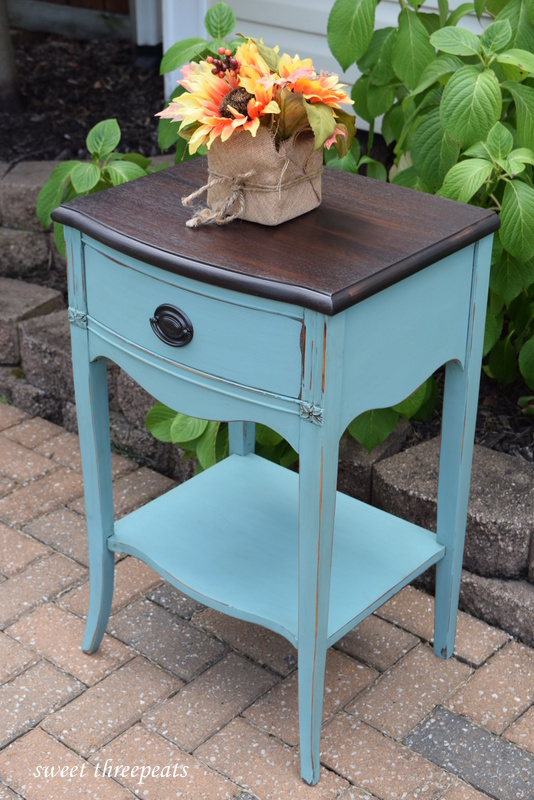 chalk paint night stand