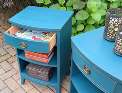 deep sea chalk paint night stands