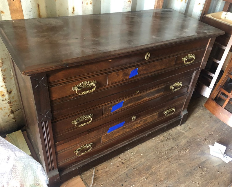 item 575 - antique dresser