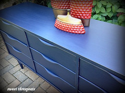 retro dresser in coastal blue