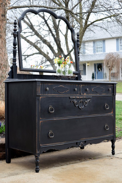 pretty in black - antique dresser
