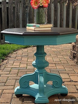 custom turquoise accent table