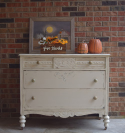 dresser in drop cloth
