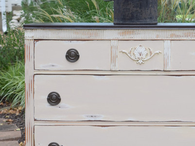 dresser in miss mustard seed: marzipan