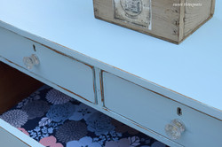 fabric lined drawer - bali blue