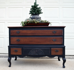 two toned antique hope chest