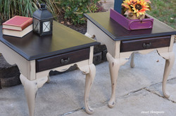 dixie belle burlap end tables