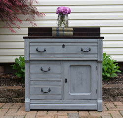 dry sink in layered grays