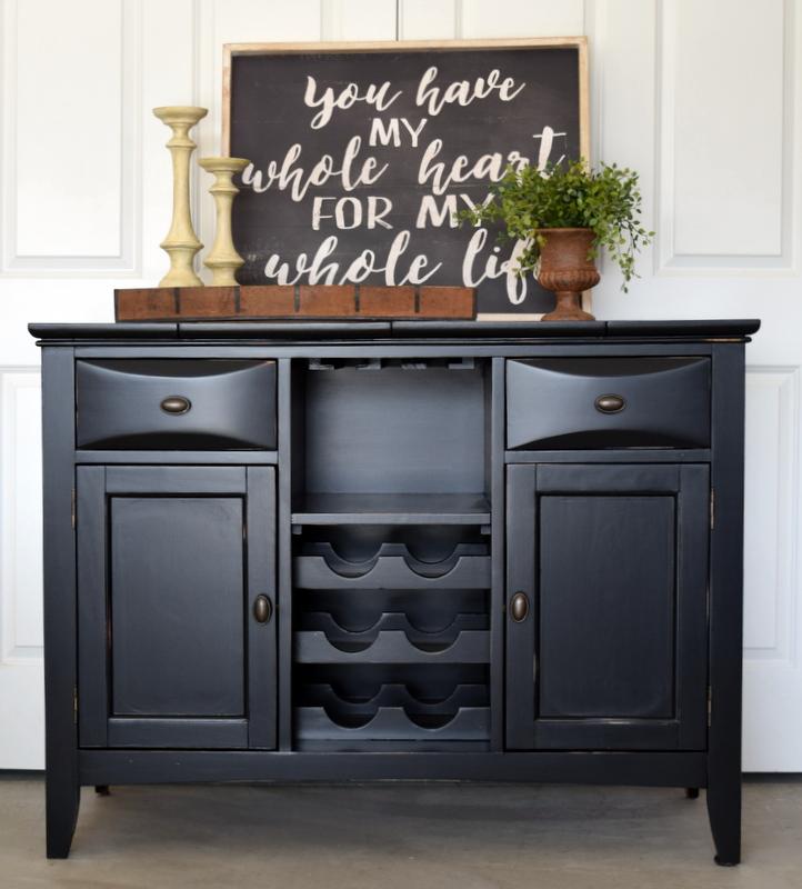 wine cabinet makeover