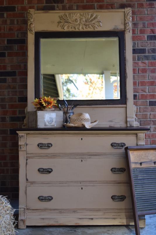 1800's burlap dresser