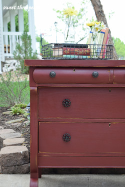 tuscan red farmhouse buffet
