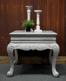 gray wash end table
