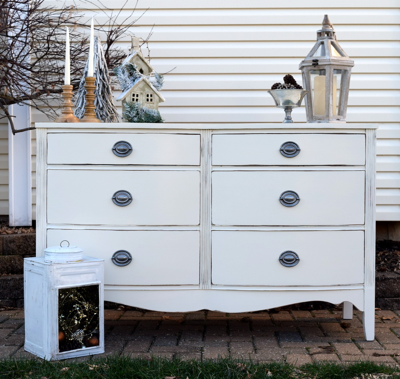 fresh antique white makeover