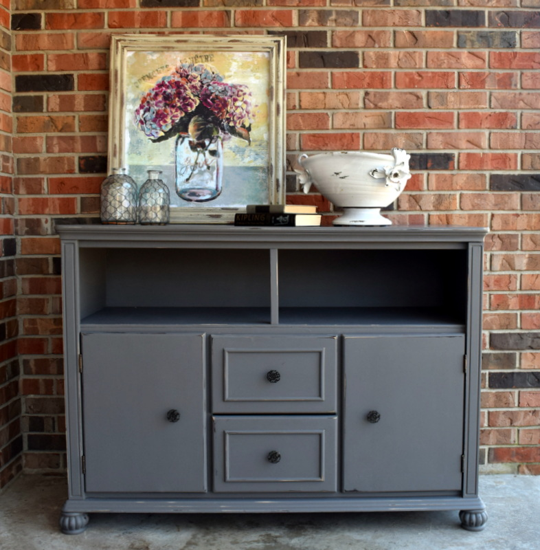 tv console makeover