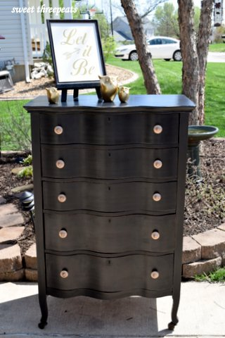 oak serpentine chest makeover