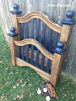 head/footboard in coastal blue