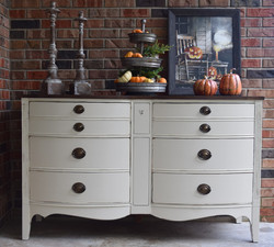 fall buffet in drop cloth