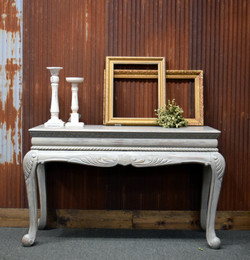 gray wash entryway table