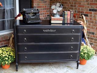 "black ""typewriter"" dresser"